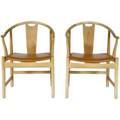 Hans J. Wegner China Chairs for PP Mobler, Pair