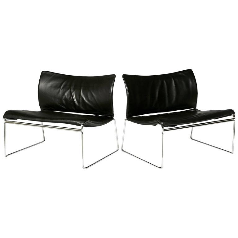 "Pair of Kazuhide Takahama ""Saghi"" Lounge Chairs for Gavina, 1970s"