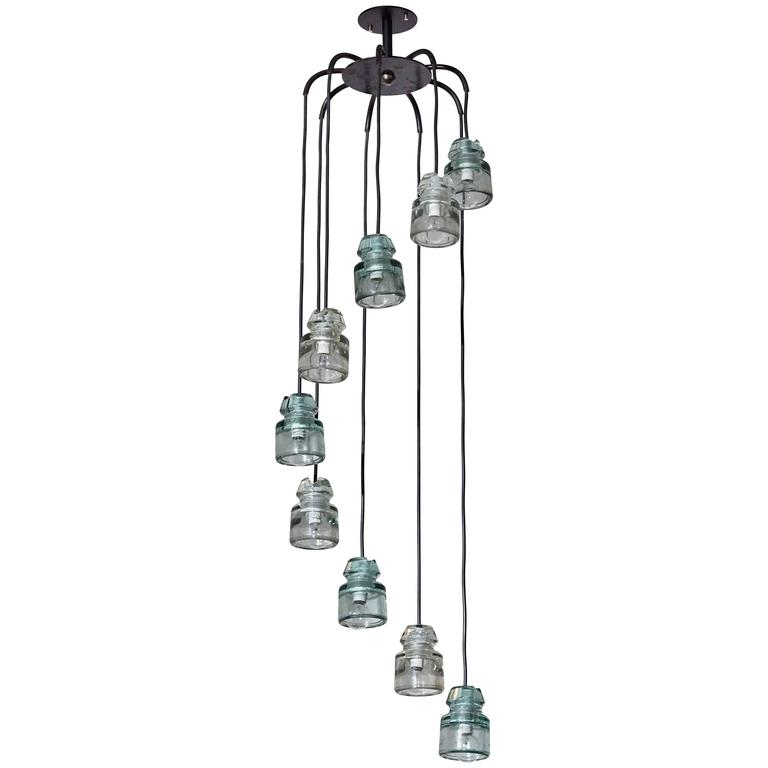 Cascading Glass Chandelier by Tito Agnoli for Oluce For Sale