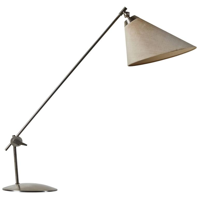 Rare Articulating Table Lamp by Povl Dineson For Sale