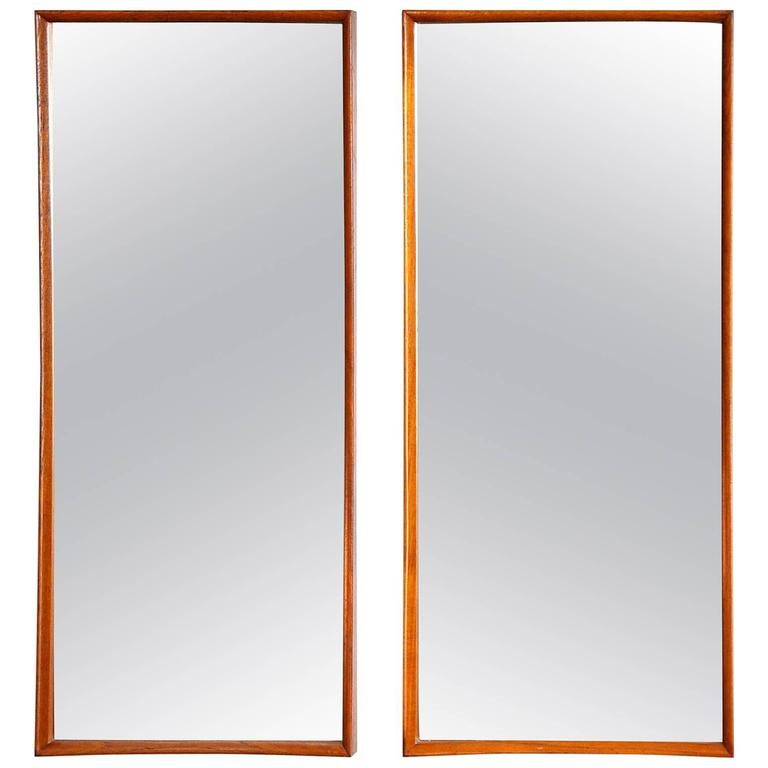 Pair of Svend Madsen for Falster Teak Mirrors 1