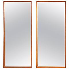 Pair of Svend Madsen for Falster Teak Mirrors