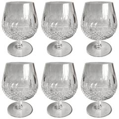 Waterford Colleen Crystal Brandy Snifters, Set of Six