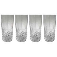 Crystal Glasses Attributed to Monique Lhuillier for Waterford, Set of Four