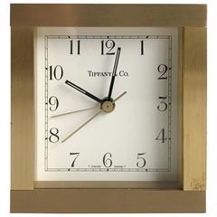 Brass Desk Clock by Tiffany & Co.
