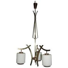 Particular Chandelier Bruno Chiarini Design Mid-Century Italian Design