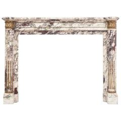 Empire Breche Viola Marble Fireplace Mantel