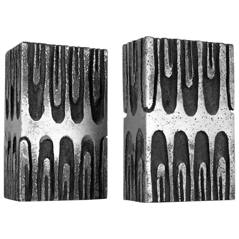 WILLY CEYSENS  brutalist vases cast aluminum  Belgium