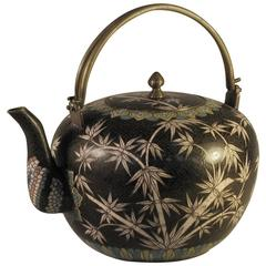 Japanese Cloisonne Teapot, Early Meiji Period