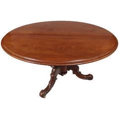 19th Century Regency Oval Mahogany Tilt Top Supper Table