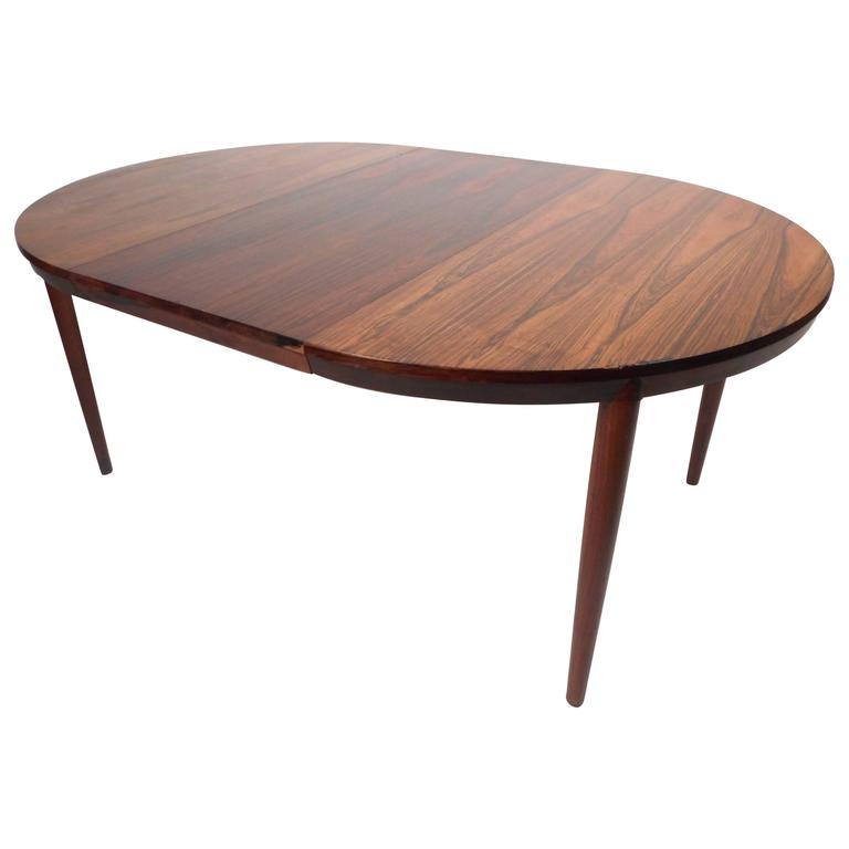 Mid-Century Modern Rosewood Dining Table