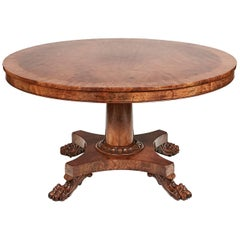 19th Century William IV Tilt-Top Mahogany Dining Table