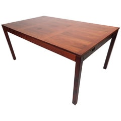 Mid-Century Modern Vejle Stole Mobelfabrik Rosewood Dining Table