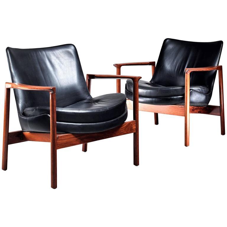 Ib Kofod-Larsen Lounge Chairs, Denmark, 1970s