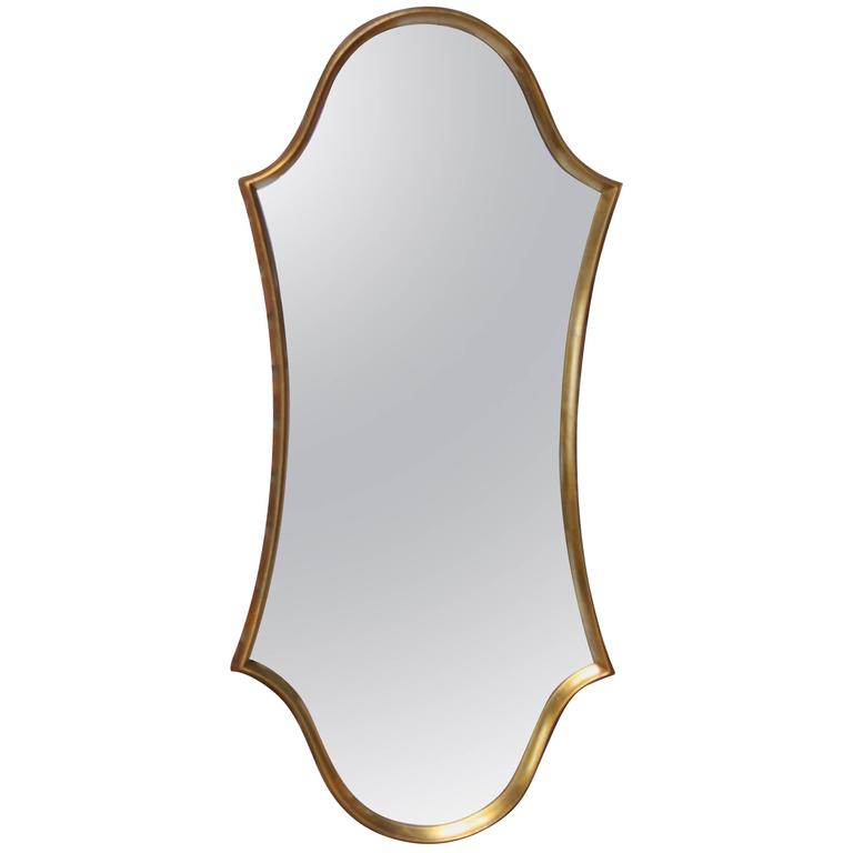 Gilt Cartouche Mirror by Labarge 1