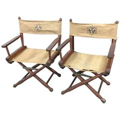 Pair of Vintage Deck/ Directors Chairs Nautical