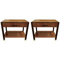 Pair of Mid-Century Two-Tiered Nightstands or End Tables by Harvey Probber