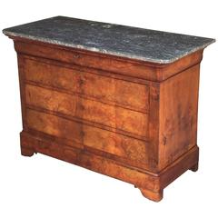 Louis Philippe Chest or Commode with Marble Top