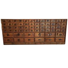 Vintage French Oak Apothecary Cabinet, 1920s-1930s