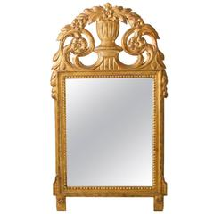 Late 19th Century Swedish Giltwood Mirror