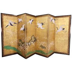 Japanese Six Panel Paper Screen