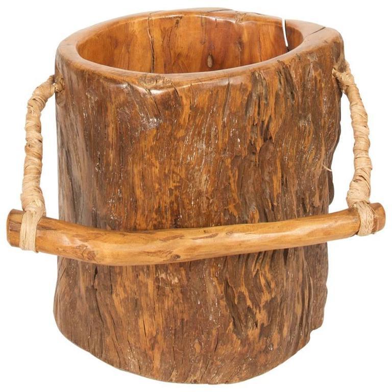 Japanese Wooden Bucket At 1stdibs