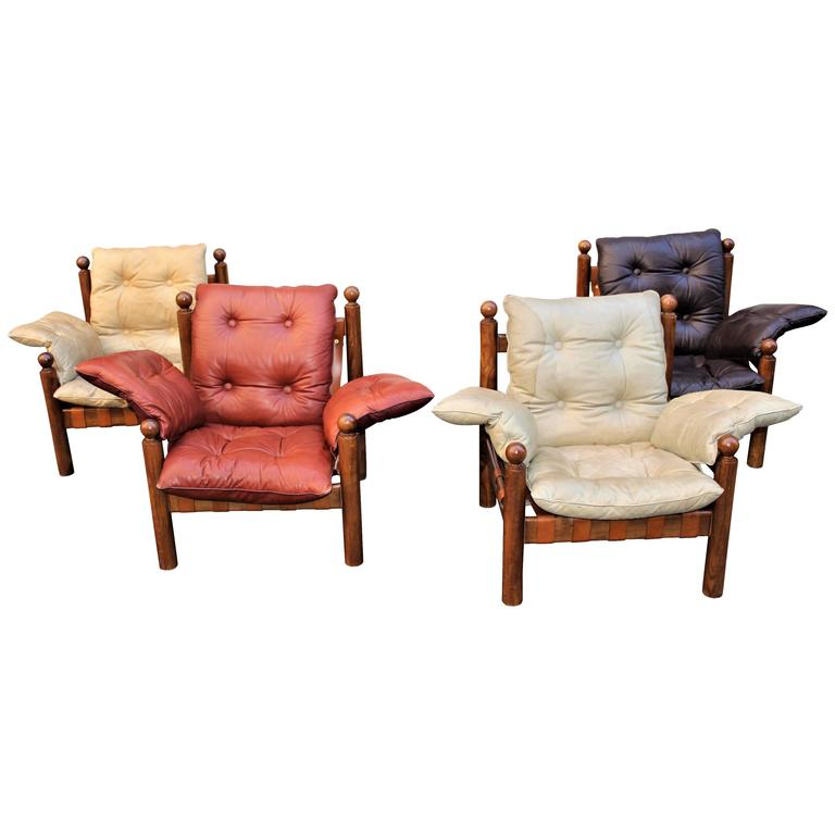 Italian Chairs Attributed to Sergio Rodrigues 1