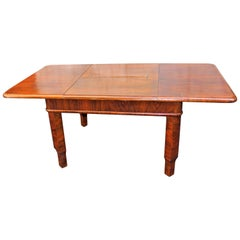 French Art Deco Table with Butterfly Leaf Mehanizam