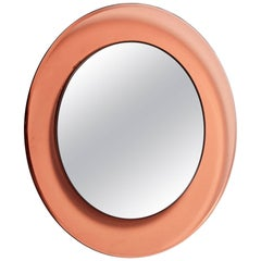 Round Fontana Arte Mirror by Max Ingrand, Italy, 1963