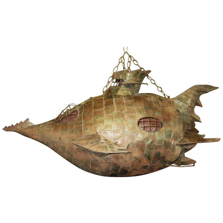 Jules Verne's Nautilus Ship Hanging Sculpture 1