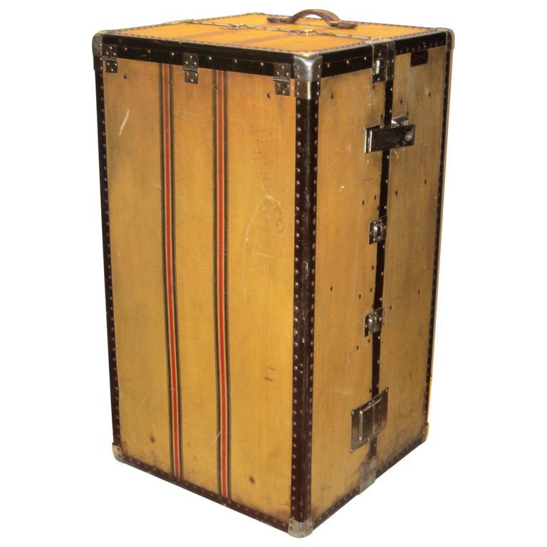 antique wardrobe steamer trunk hartmann for sale - Wardrobe Trunk