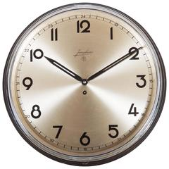 Large Junghans Bauhaus Wall Clock from the 1930s