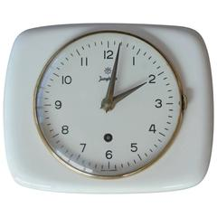 Junghans Max Bill Designed Mid-Century Mechanical Wall Clock
