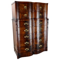 Flame Mahogany Chest on Chest