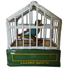 "German ""Song Bird in Cage"" Toy, circa 1920"