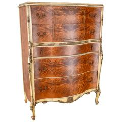 Early 20th Century French Satinwood Chest on Chest
