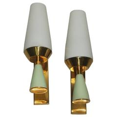 Pair of Italia Mid-Century Wall Sconces, 1960s