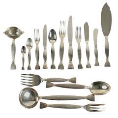 "Hermès ""Moisson"" Silver Plated Flatware 25 Pieces"