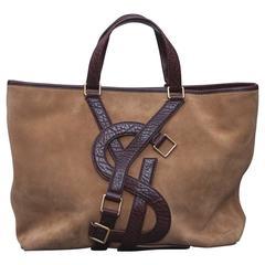 Yves Saint Laurent Shopper Weekender Suede Leather, 1970s