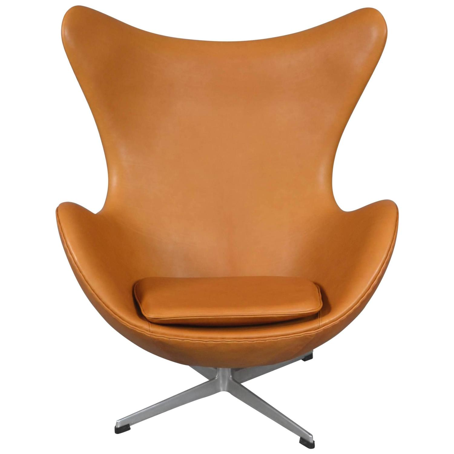 Arne jacobsen egg chair leather - Arne Jacobsen Egg Chair By Fritz Hansen Circa 1970