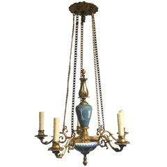 19th Century English Wedgwood Neoclassical Chandelier