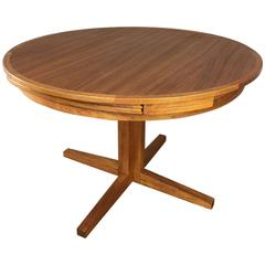 Teak Flip Flap Dining Extension Table by Dyrlund