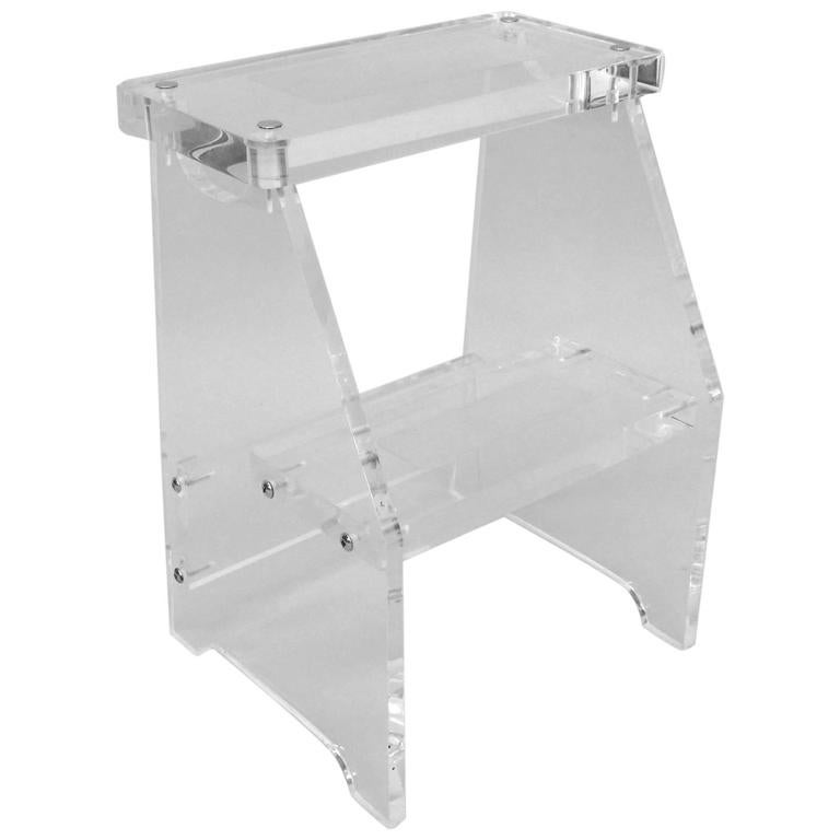 Lucite Step Stool Or Display Shelf At 1stdibs