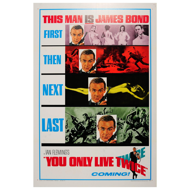 Original Vintage Teaser Movie Poster for the James Bond Film You Only Live Twice