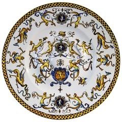 19th Century French Faience Charger or Plate