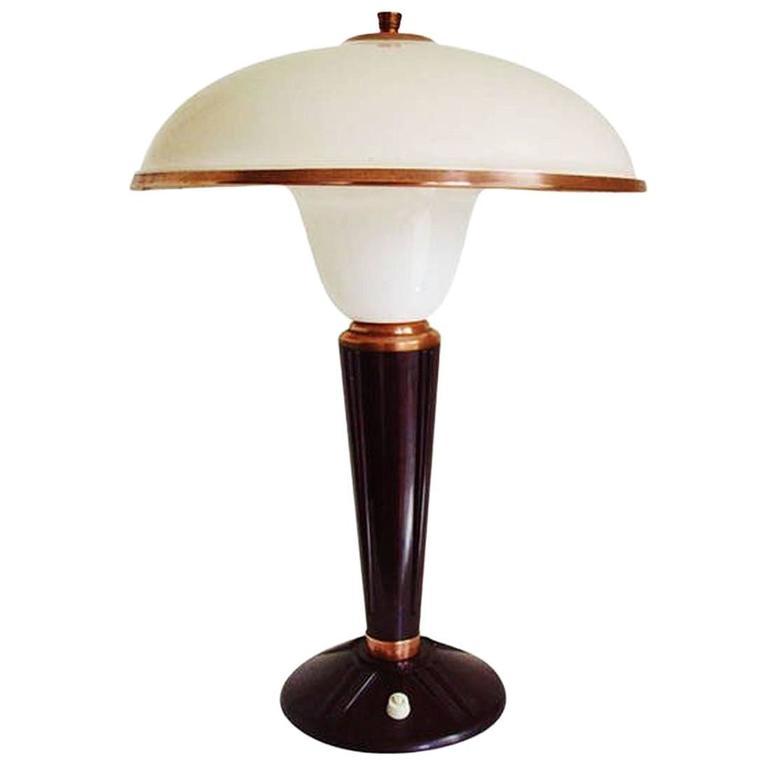 Art Deco Bakelite Table Lamp By Eileen Gray For Jumo France At 1stdibs
