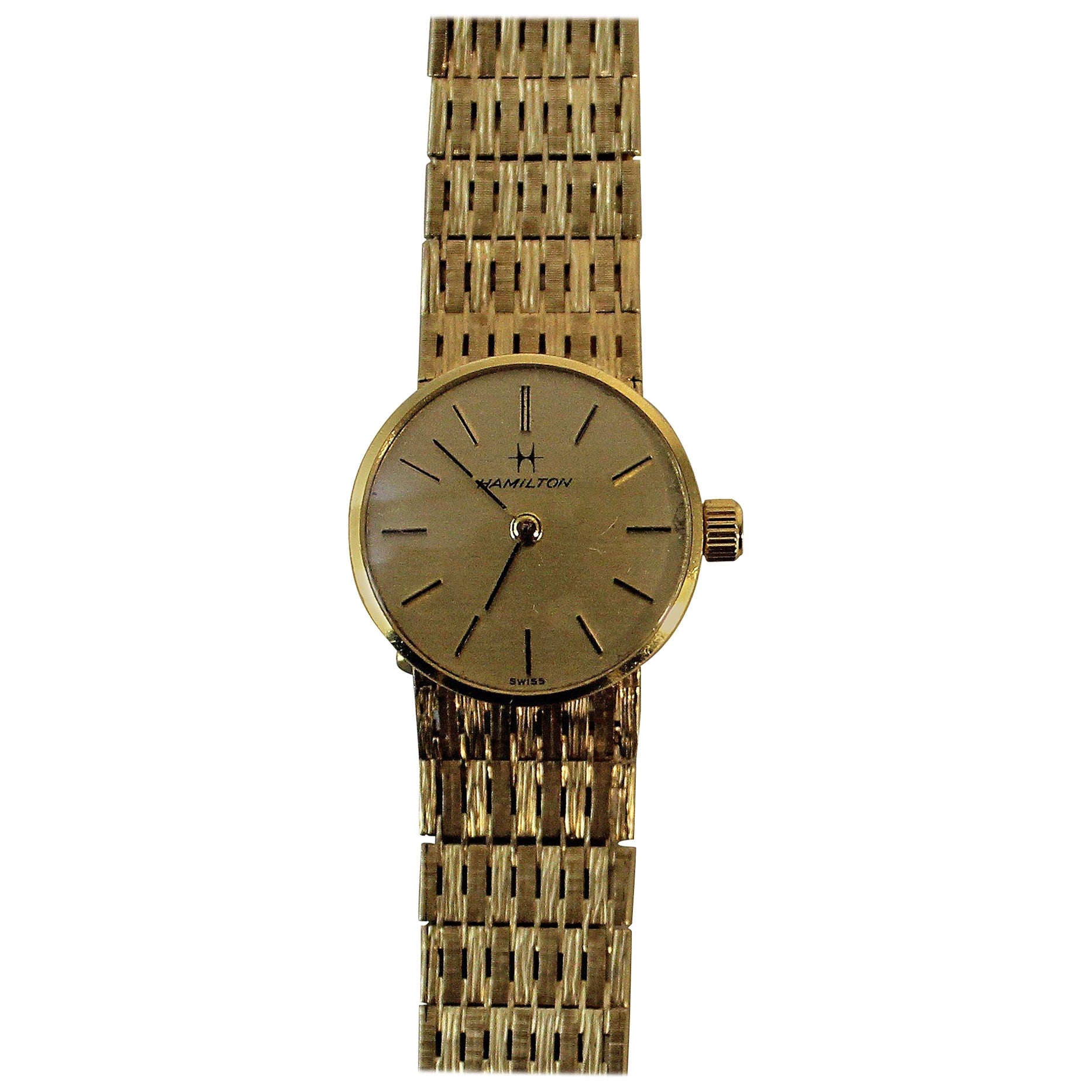 18 Carat Gold Ladies Hamilton Watch