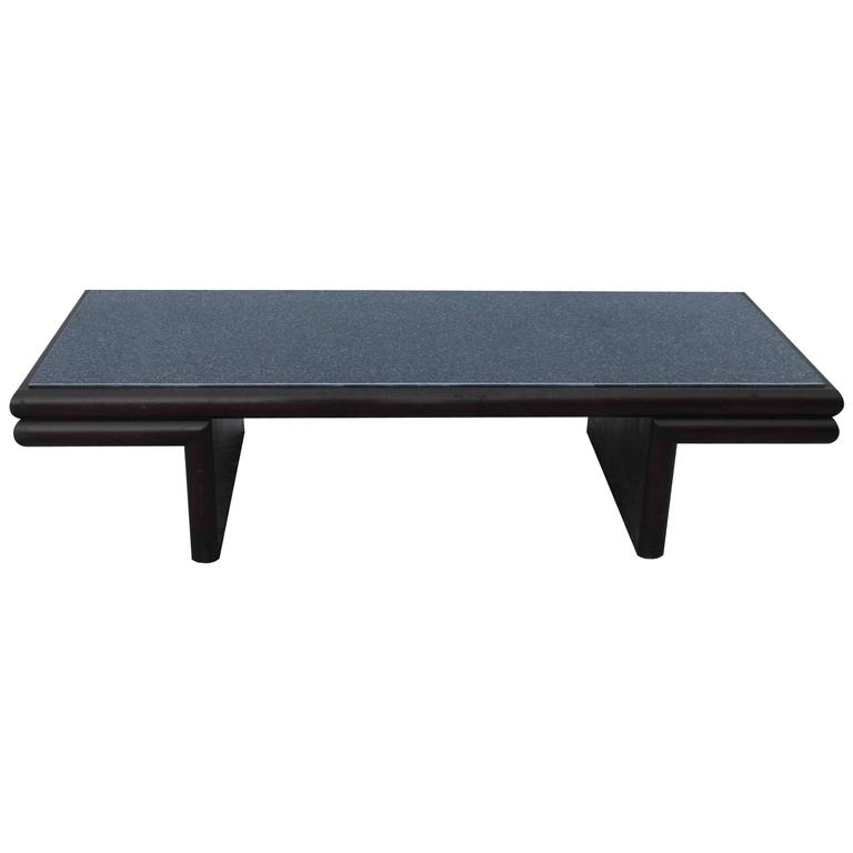 Harvey Probber Resin Top Modernist Coffee Table