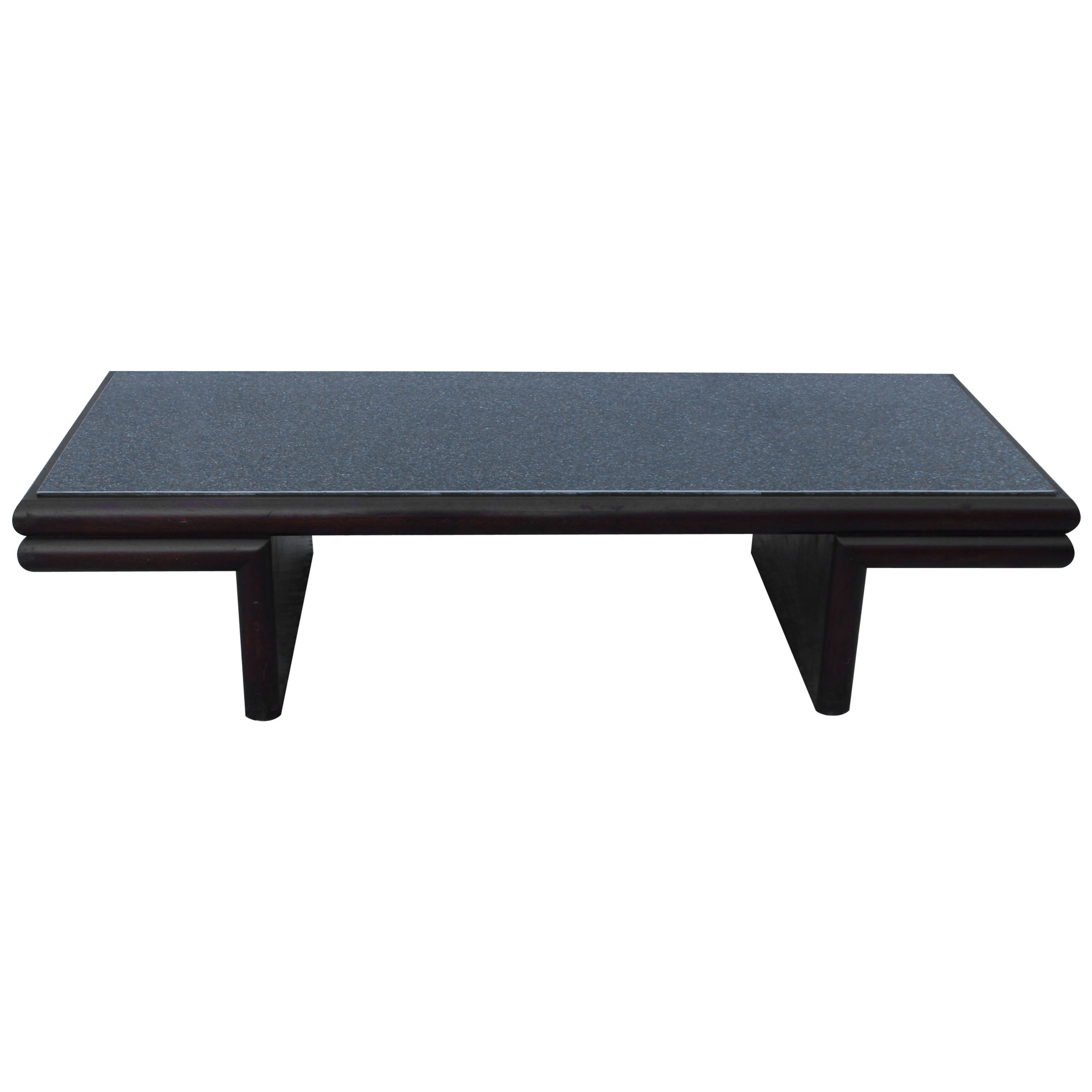 Harvey Probber Style Resin Top Modernist Coffee Table