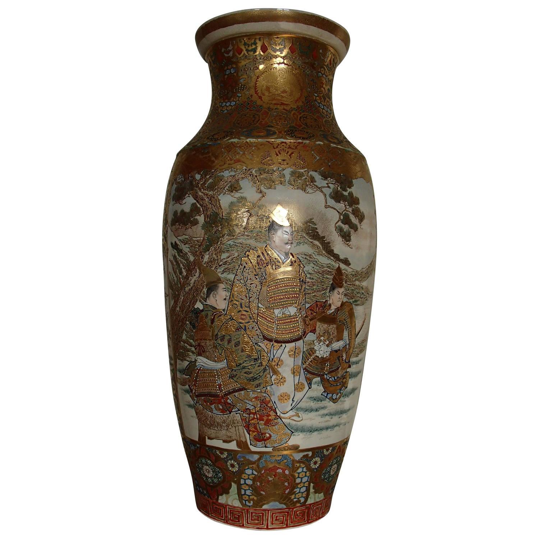 1900 japanese satsuma porcelain huge vase with samurai scenes for 1900 japanese satsuma porcelain huge vase with samurai scenes for sale at 1stdibs reviewsmspy